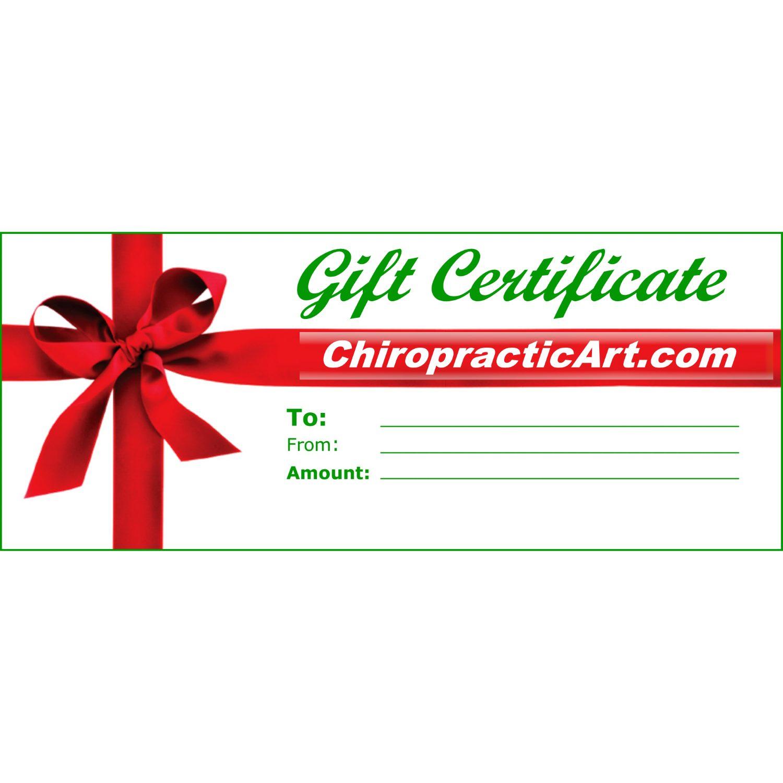 ChiropracticArt.com Gift Certificates