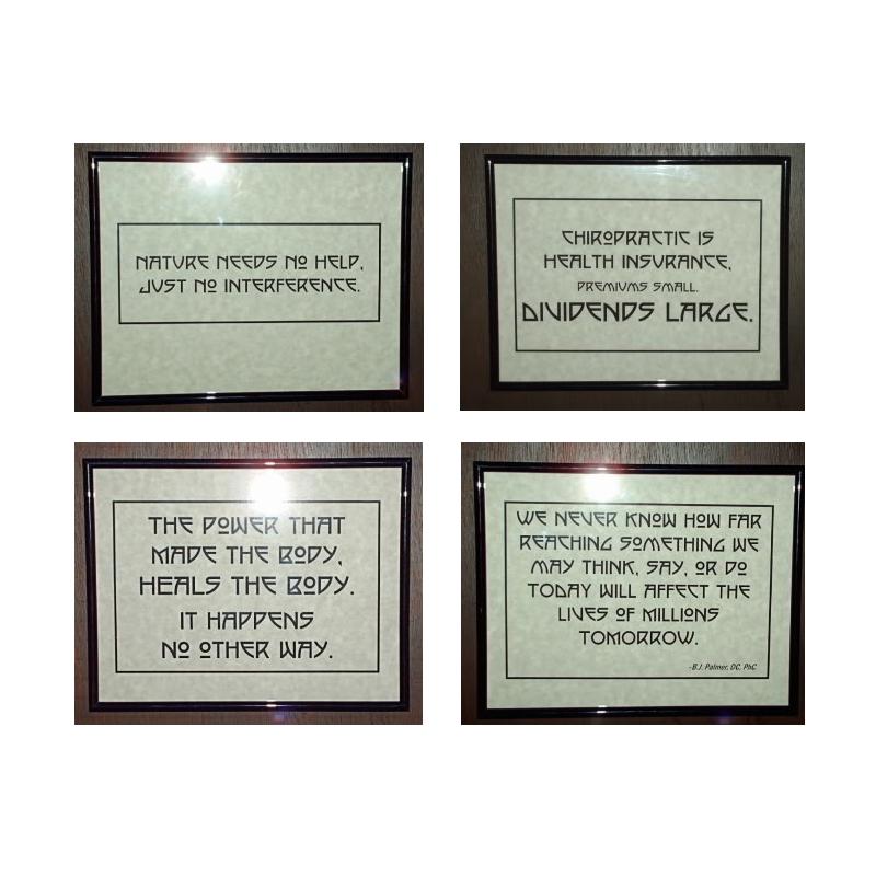 Chiropractic Epigrams Framed Prints