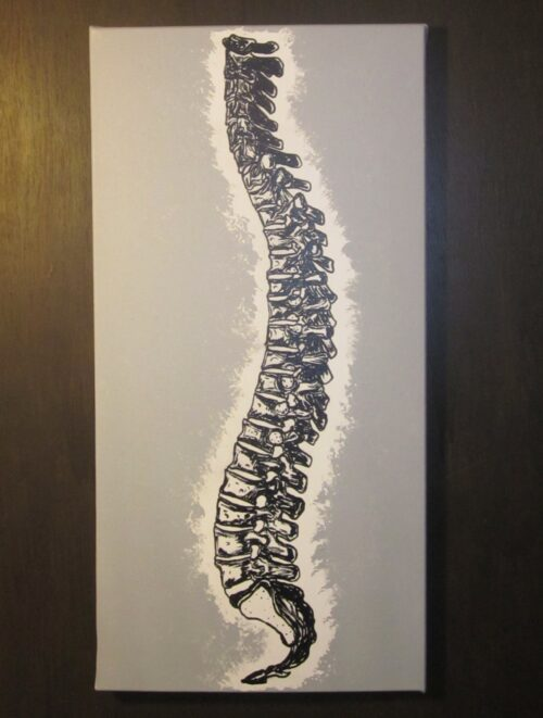 Chiropractic Single Canvas Spine Painting