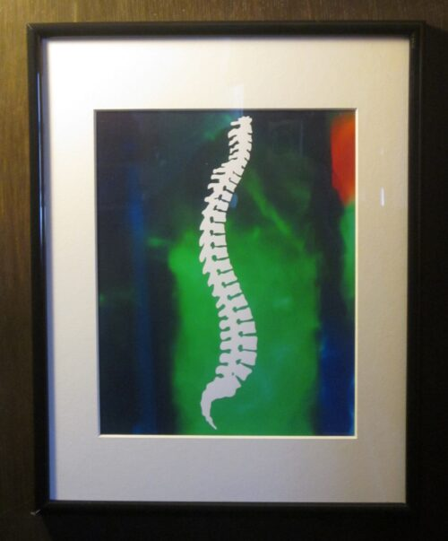 Abstract Spine Silhouette Chiropractic Print