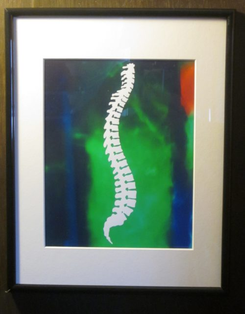 Chiropractic Wall Art Spine on Colorful Background