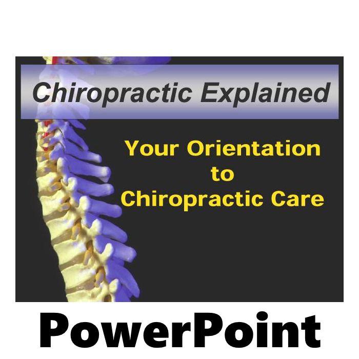 Chiropractic Orientation PowerPoint Presentation (CD)