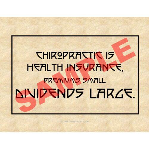 Chiropractic art epigram print