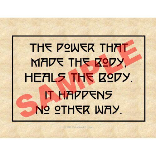Chiropractic art epigram print parchment paper