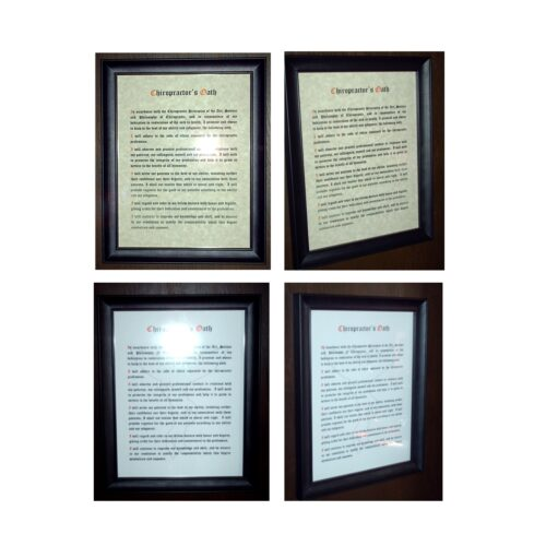 Chiropractic Oath Framed Print