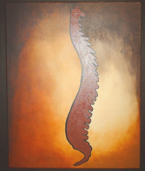 Chiropractic art spine painting