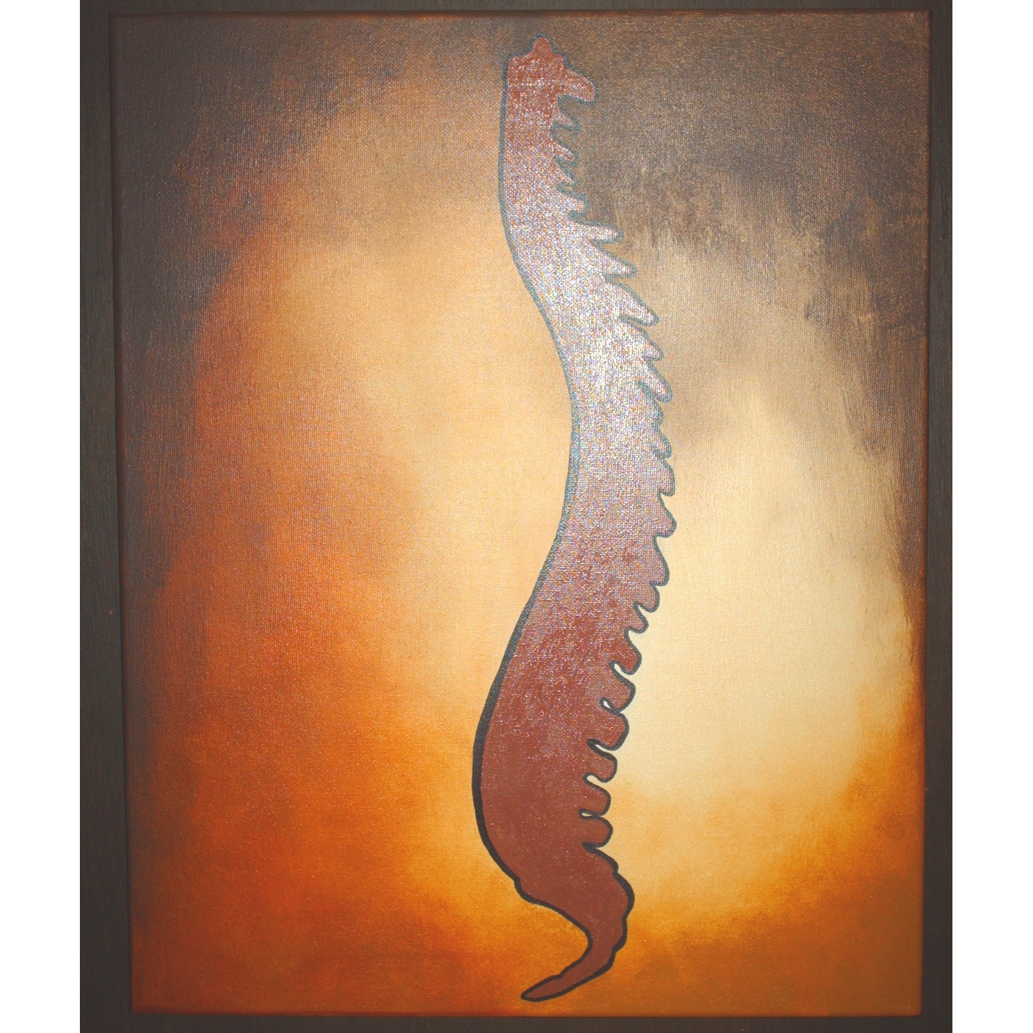 Silhouette Spine Painting 2 – Chiropractic Art