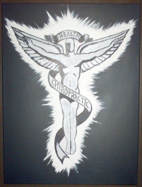 Chiropractic Art Caduceus Painting