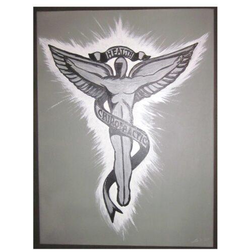 Chiropractic Caduceus Art