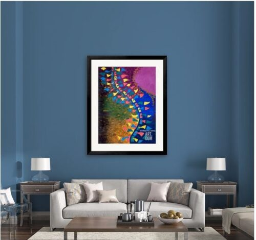 Chiropractic wall print abstract spine poster