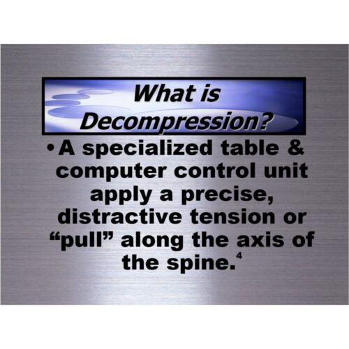 Spinal Decompression Chiropractic Patient Education DVD